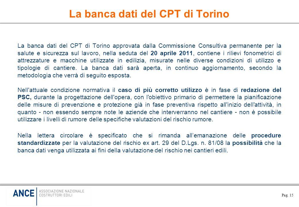 La banca dati del CPT di Torino