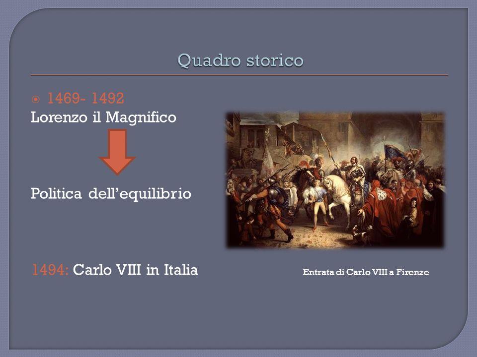 Quadro storico 1469- 1492 Lorenzo il Magnifico