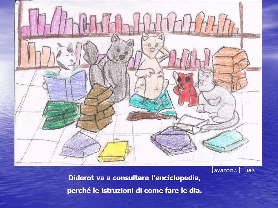 Diderot va a consultare l'enciclopedia,