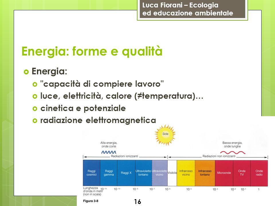Energia: forme e qualità