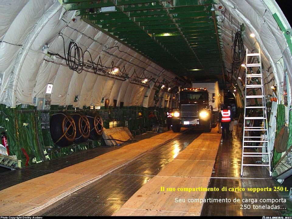 Il suo compartimento di carico sopporta 250 t.