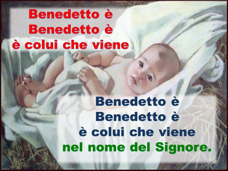 Benedetto è è colui che viene Benedetto è è colui che viene nel nome del Signore.