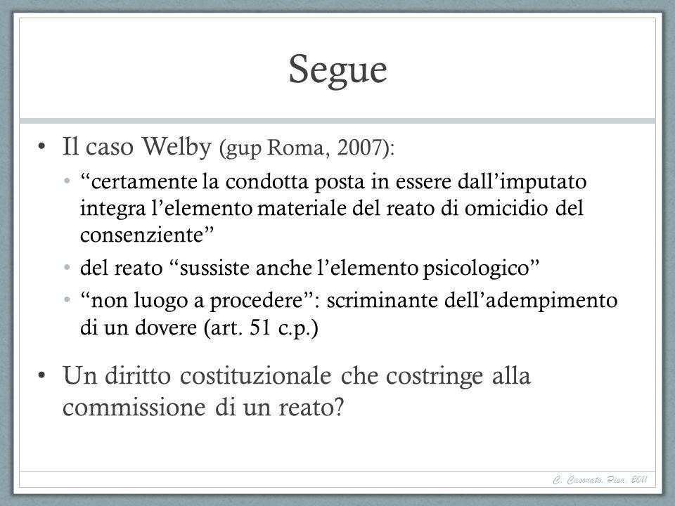 Segue Il caso Welby (gup Roma, 2007):