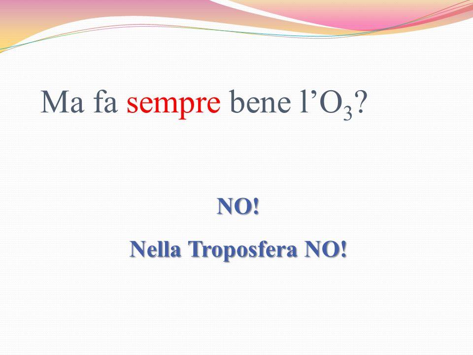 Ma fa sempre bene l'O3 NO! Nella Troposfera NO!