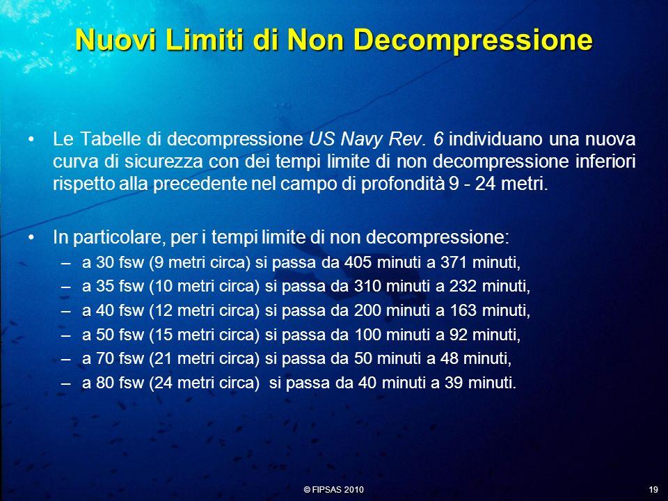 Nuovi Limiti di Non Decompressione
