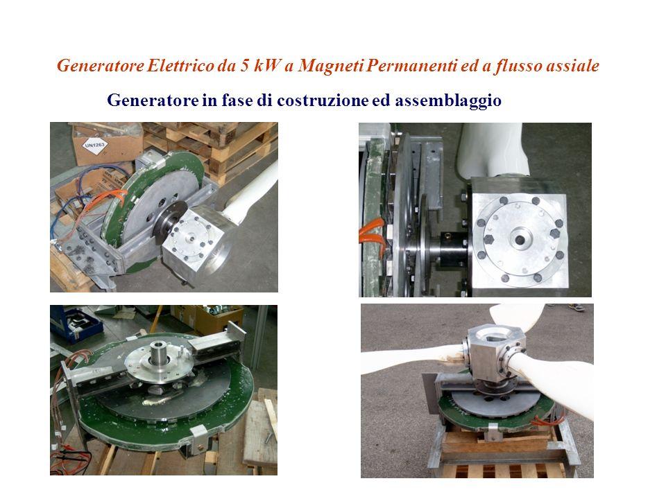 Generatore Elettrico da 5 kW a Magneti Permanenti ed a flusso assiale