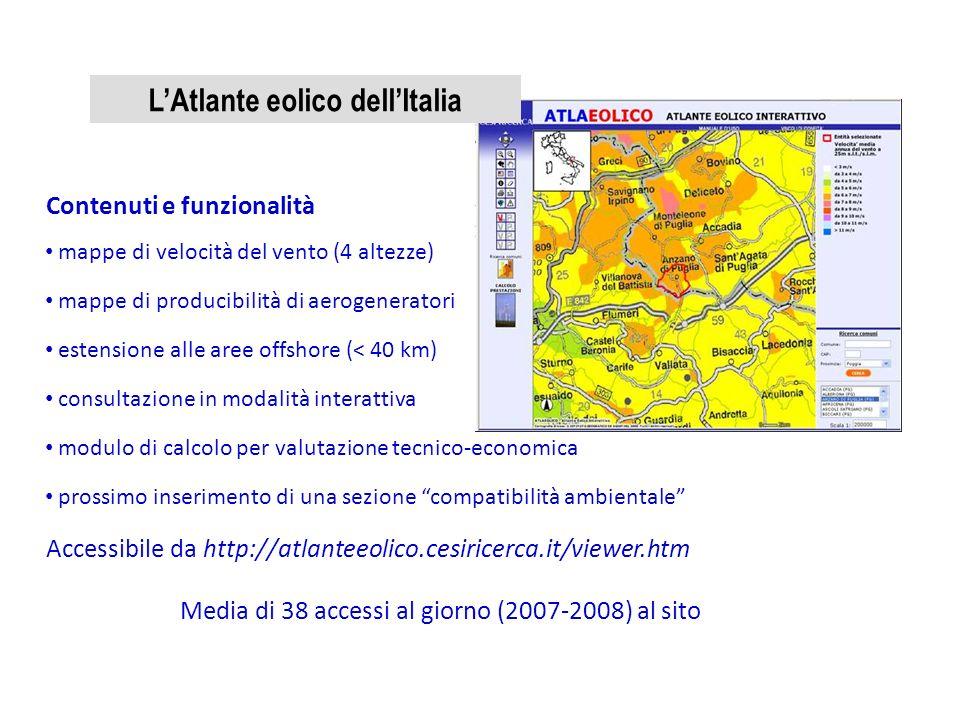 L'Atlante eolico dell'Italia