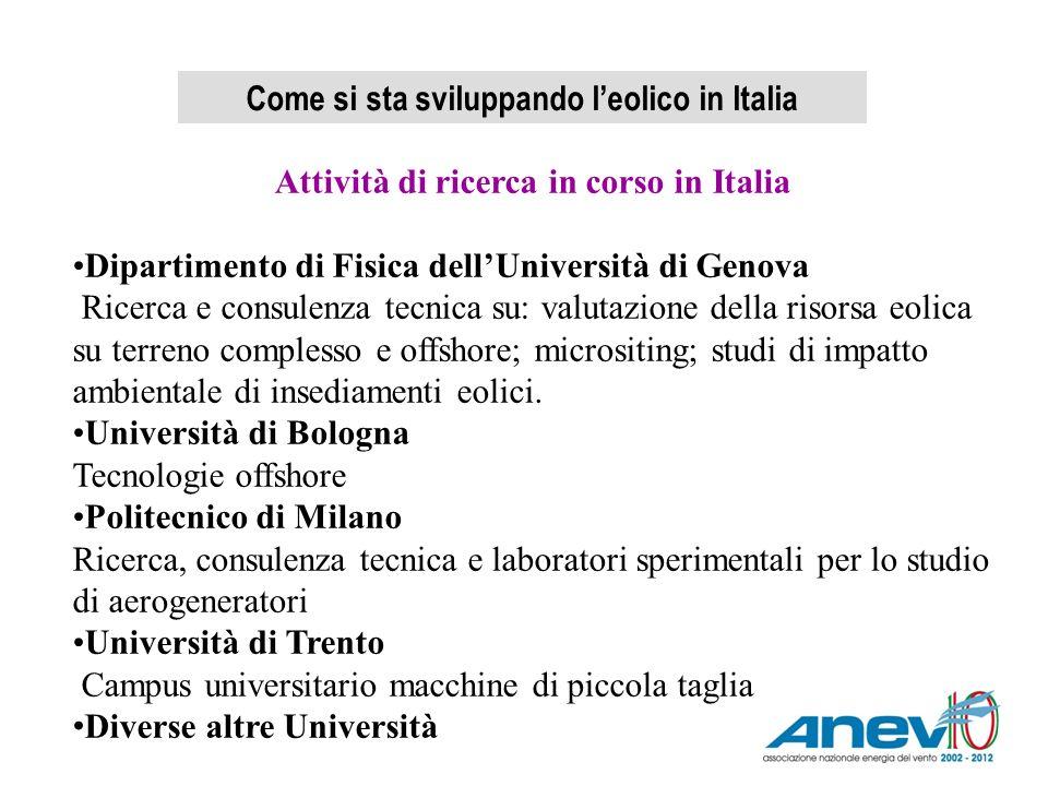Come si sta sviluppando l'eolico in Italia
