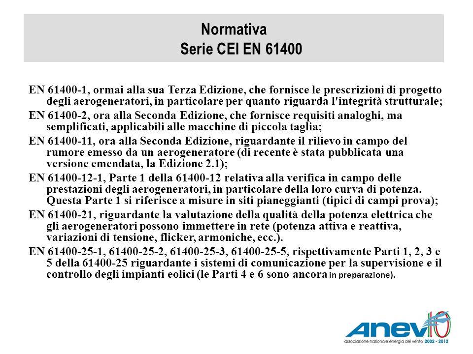 Normativa Serie CEI EN 61400