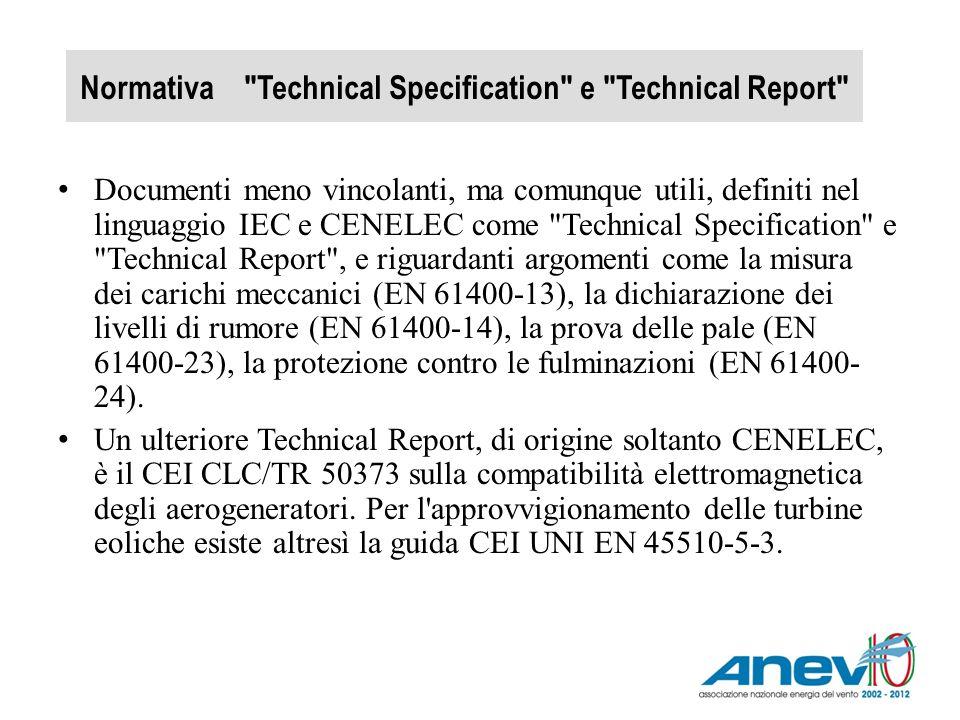 Normativa Technical Specification e Technical Report
