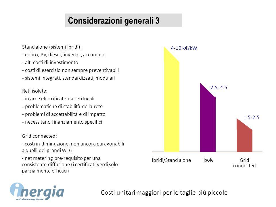 Considerazioni generali 3