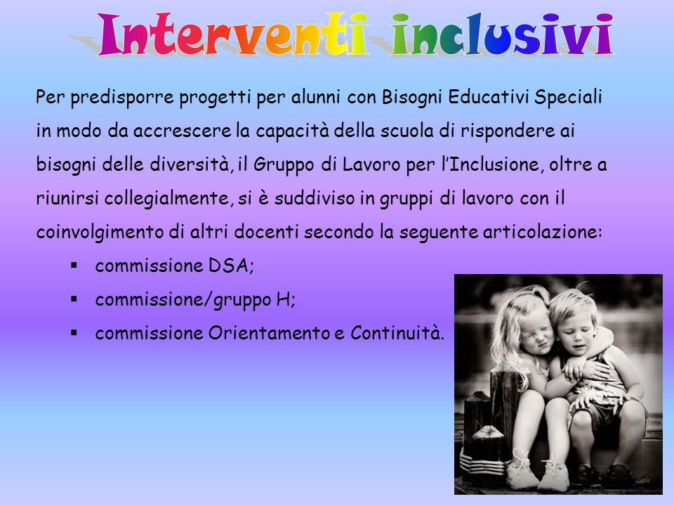 Interventi inclusivi