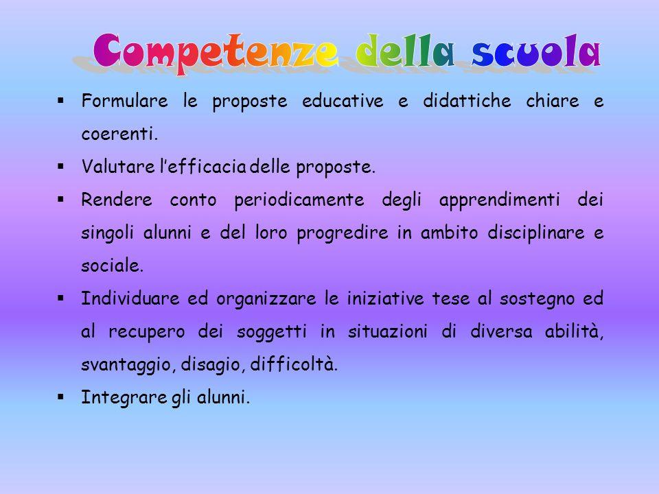 Competenze della scuola