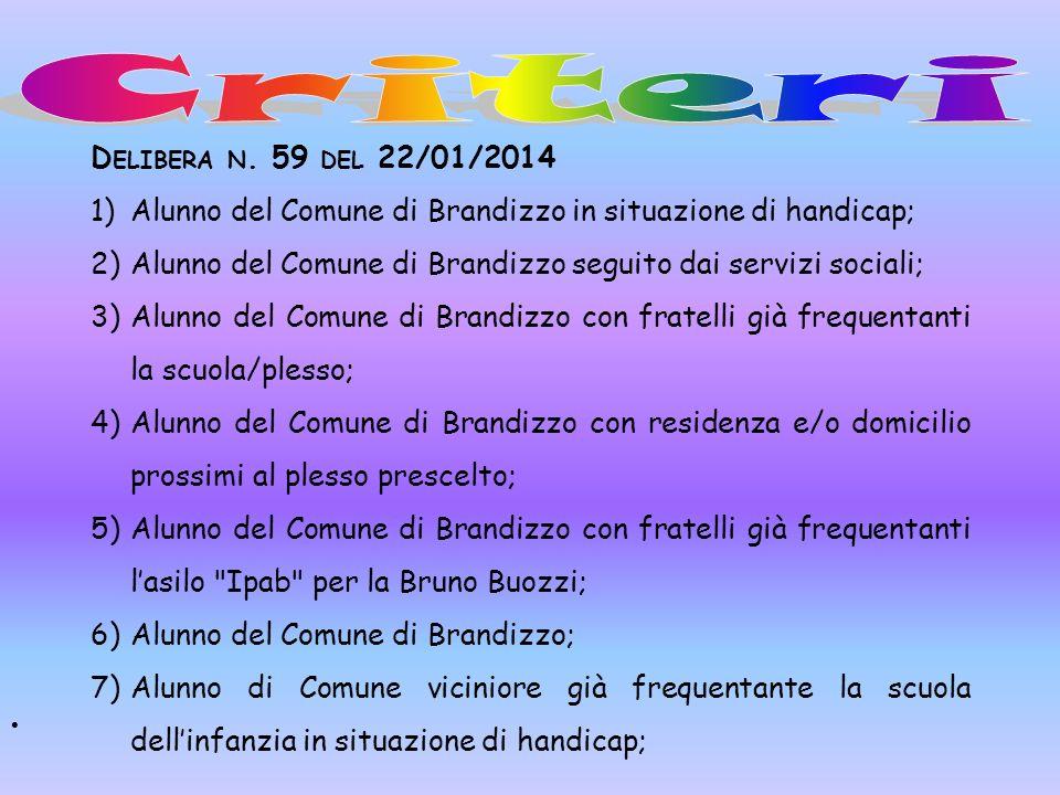 Criteri Delibera n. 59 del 22/01/2014