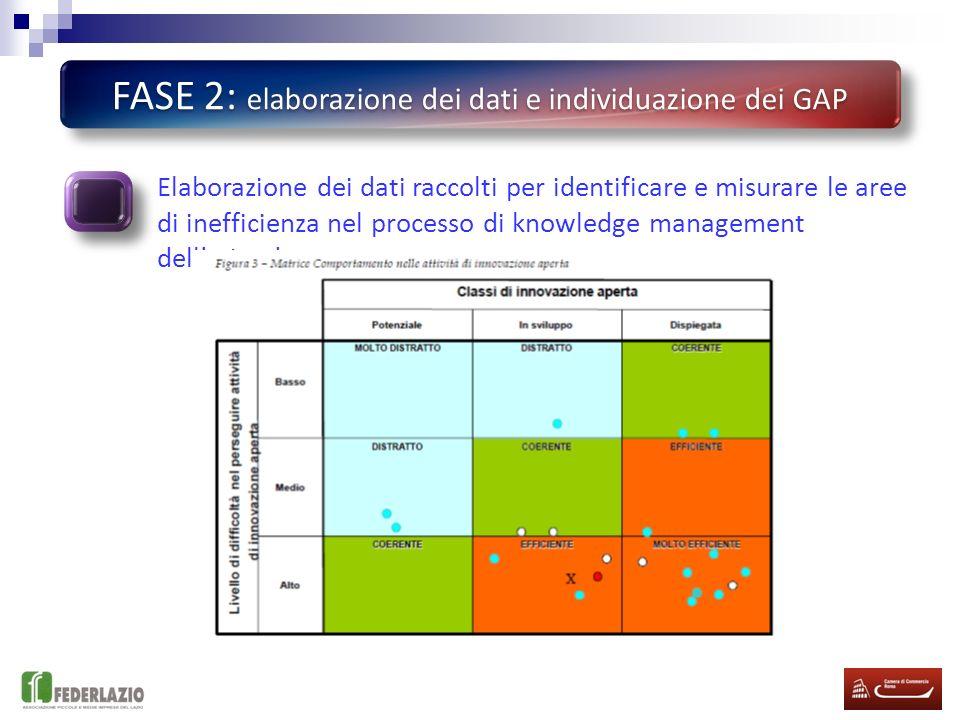 FASE 2: elaborazione dei dati e individuazione dei GAP