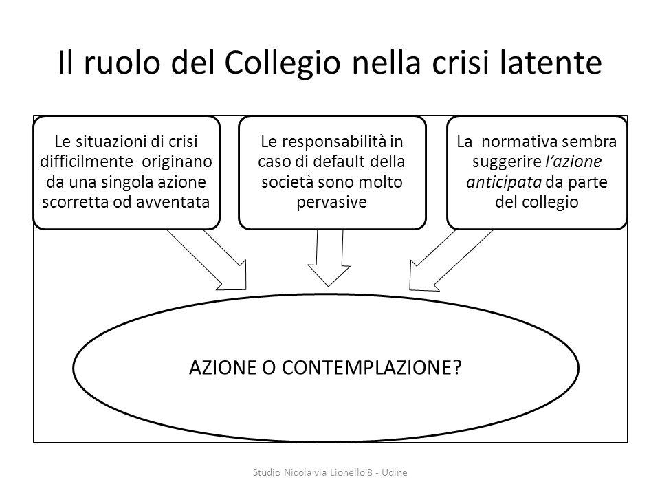 Il ruolo del Collegio nella crisi latente