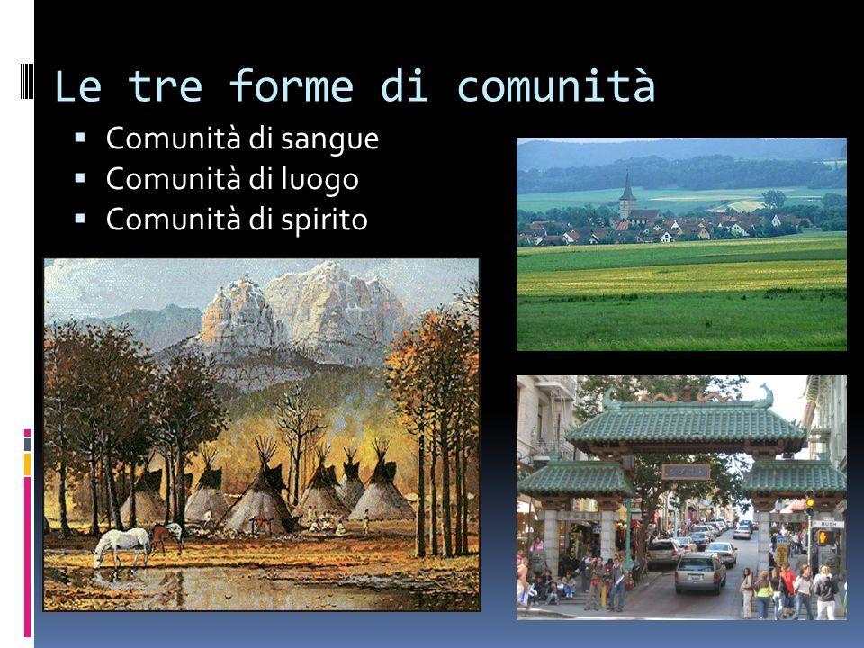 Le tre forme di comunità