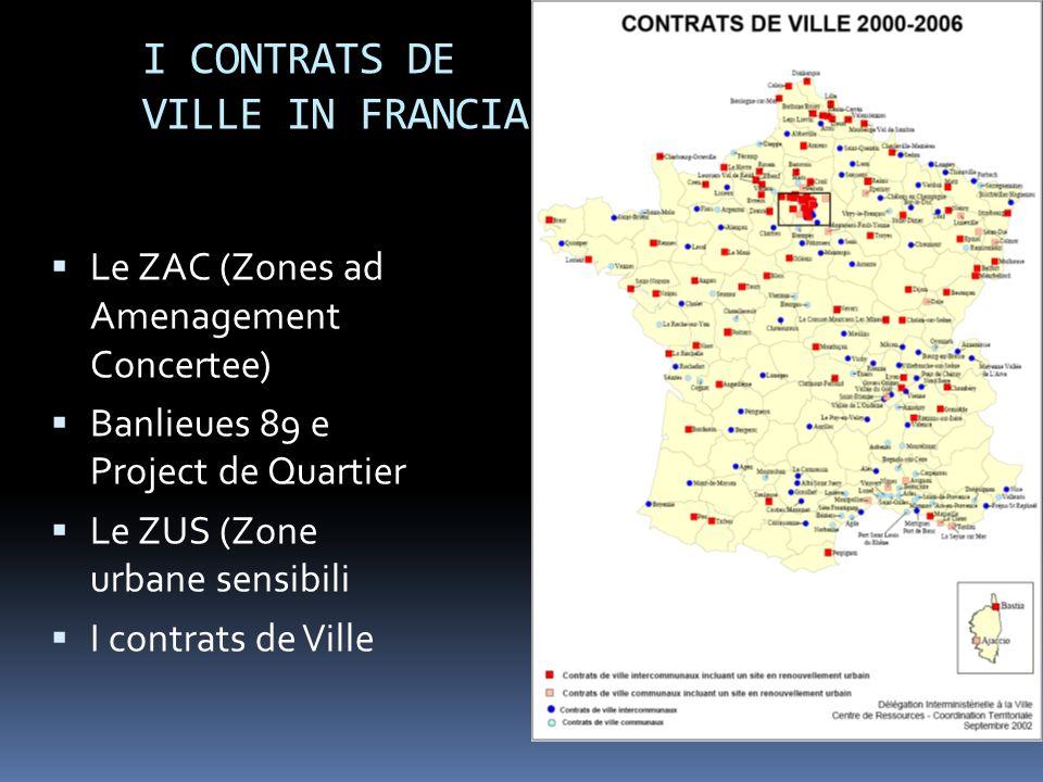 I CONTRATS DE VILLE IN FRANCIA