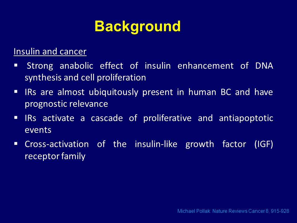 Background Insulin and cancer