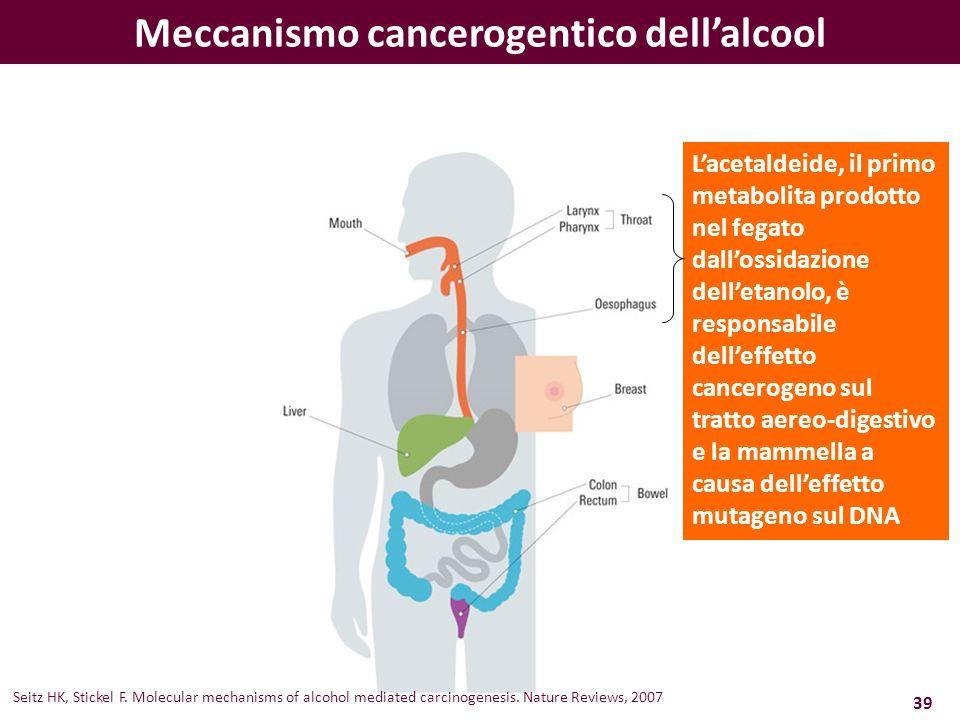 Meccanismo cancerogentico dell'alcool
