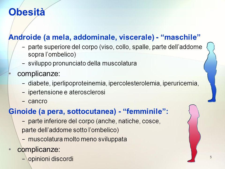 Obesità Androide (a mela, addominale, viscerale) - maschile