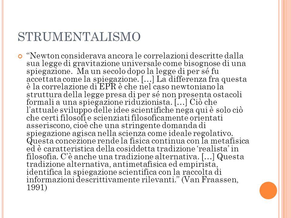STRUMENTALISMO