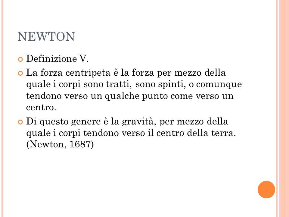 NEWTON Definizione V.