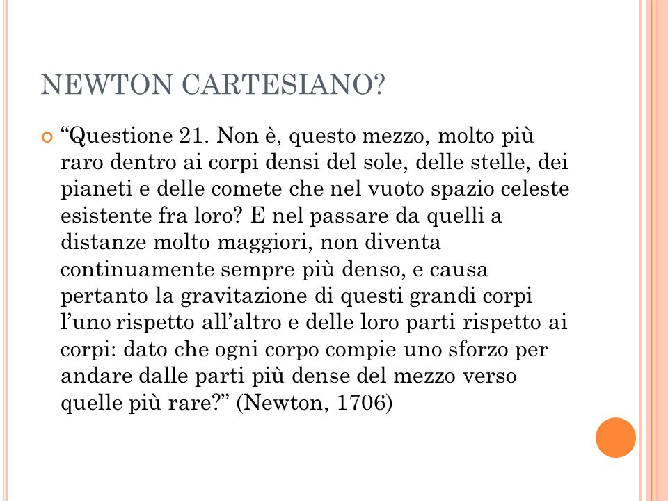 NEWTON CARTESIANO