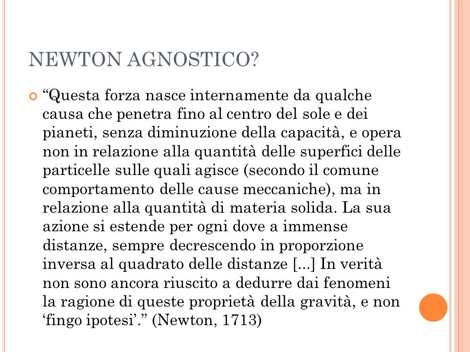 NEWTON AGNOSTICO