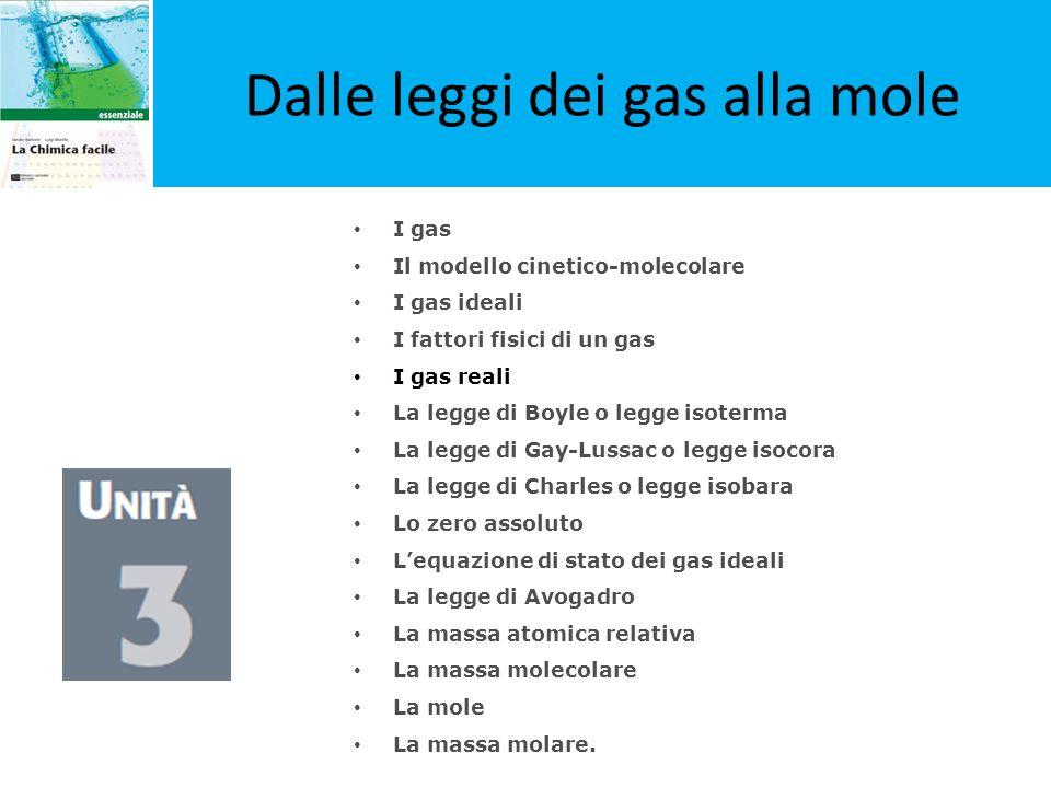 Dalle leggi dei gas alla mole