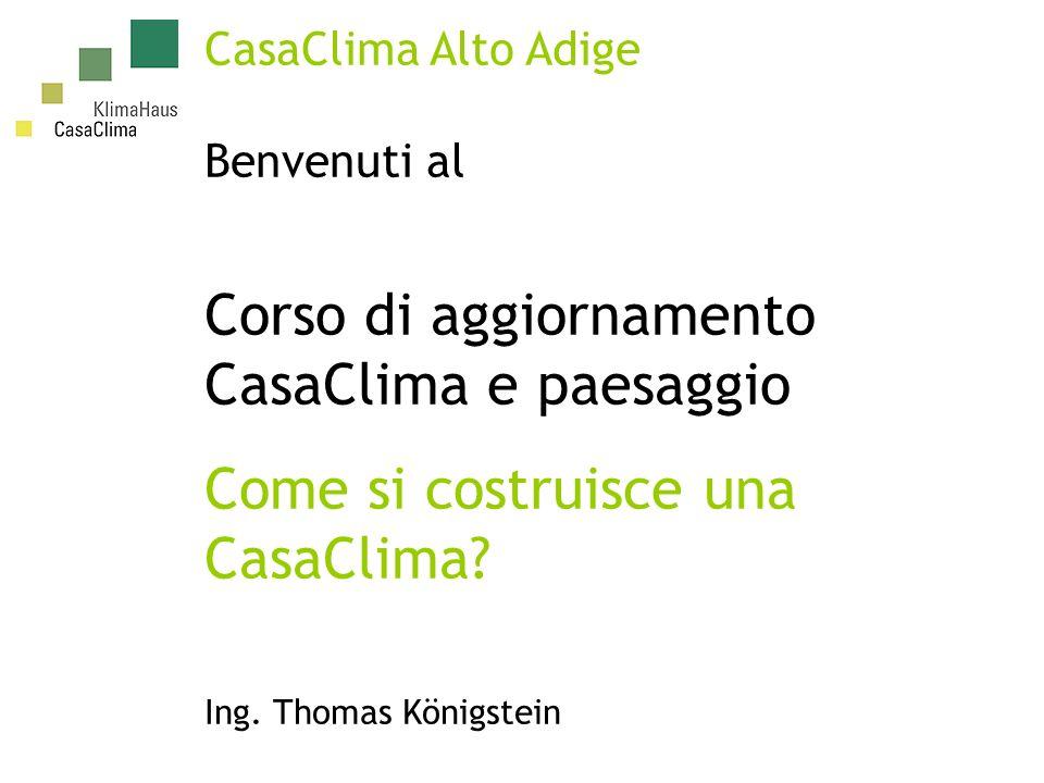 Corso di aggiornamento CasaClima e paesaggio