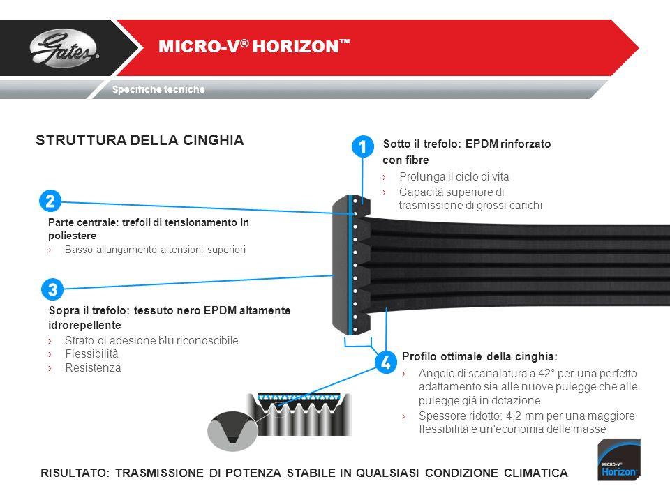 MICRO-V® HORIZON™ STRUTTURA DELLA CINGHIA