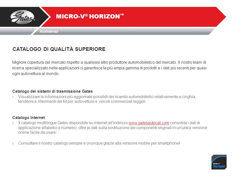 MICRO-V® HORIZON™ CATALOGO DI QUALITÀ SUPERIORE