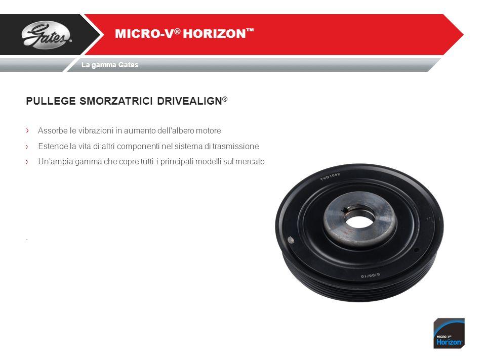 MICRO-V® HORIZON™ PULLEGE SMORZATRICI DRIVEALIGN®