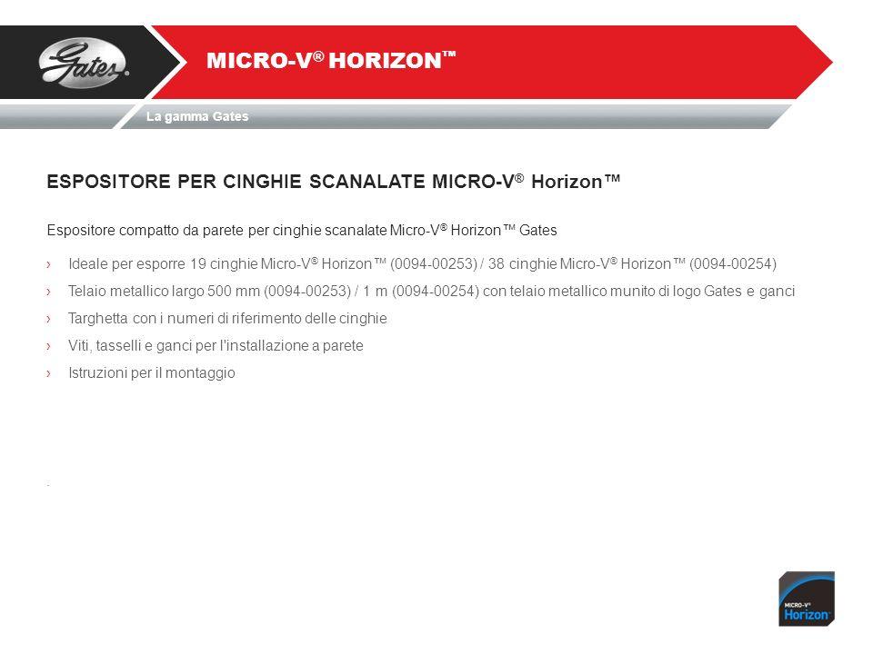 MICRO-V® HORIZON™ ESPOSITORE PER CINGHIE SCANALATE MICRO-V® Horizon™