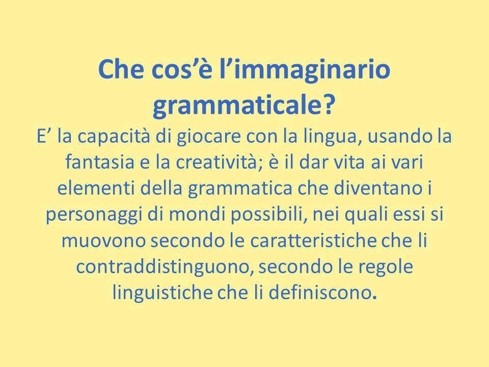 Che cos'è l'immaginario grammaticale