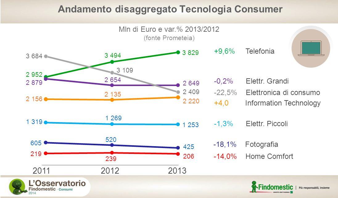 Andamento disaggregato Tecnologia Consumer