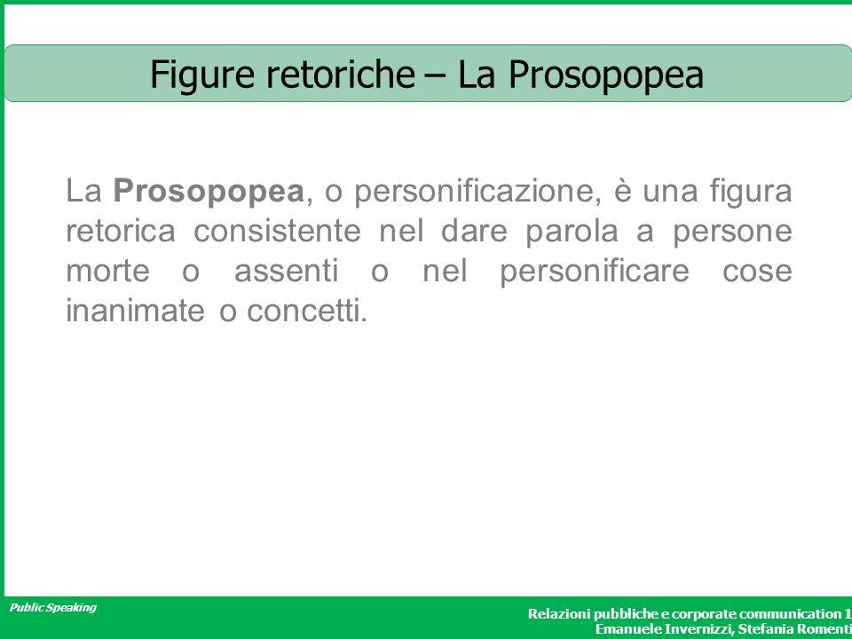 Figure retoriche – La Prosopopea
