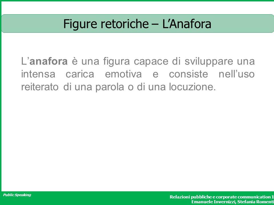 Figure retoriche – L'Anafora