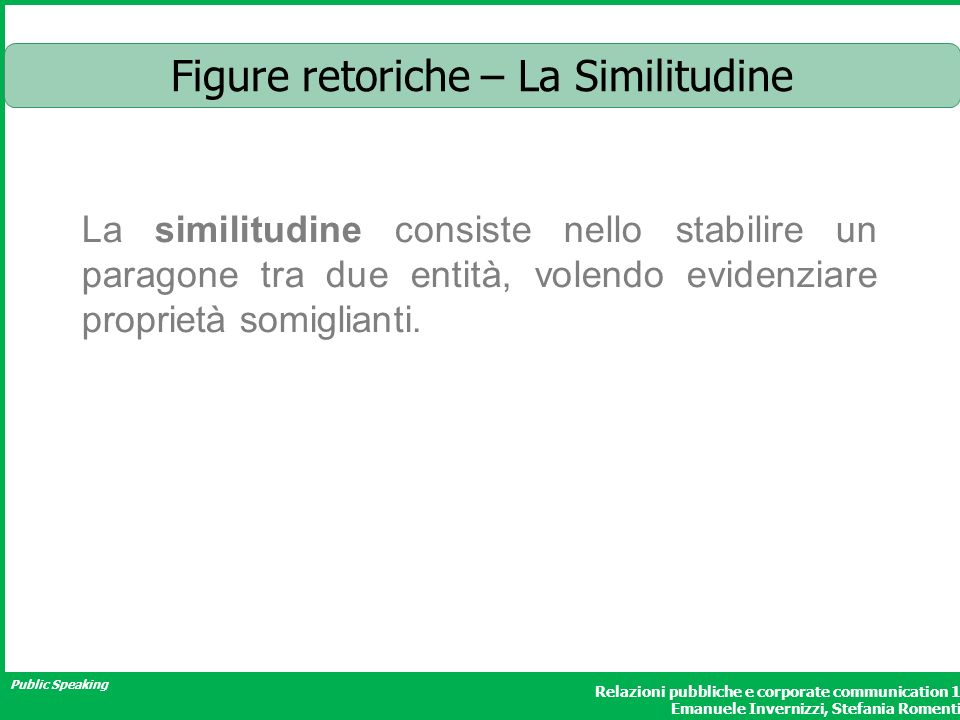 Figure retoriche – La Similitudine