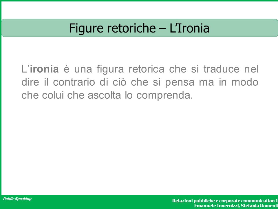 Figure retoriche – L'Ironia