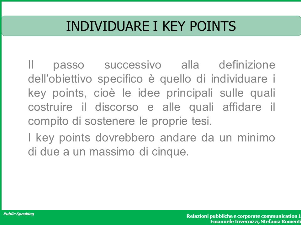 INDIVIDUARE I KEY POINTS