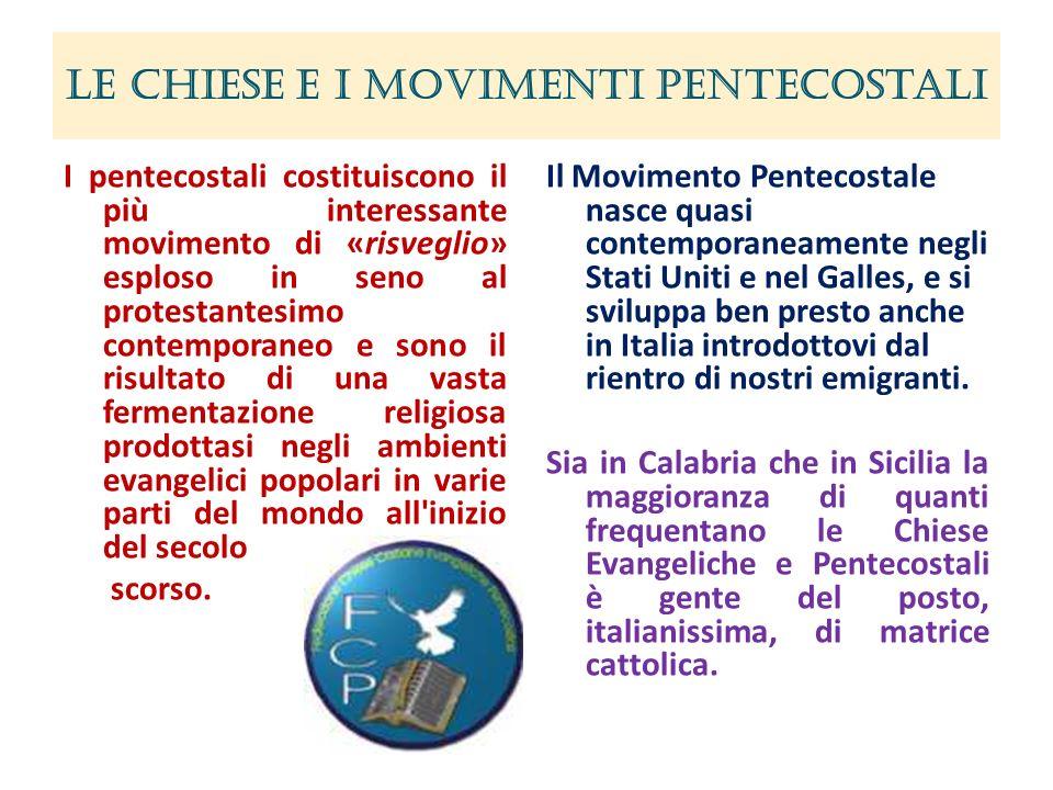 Le Chiese e i Movimenti Pentecostali