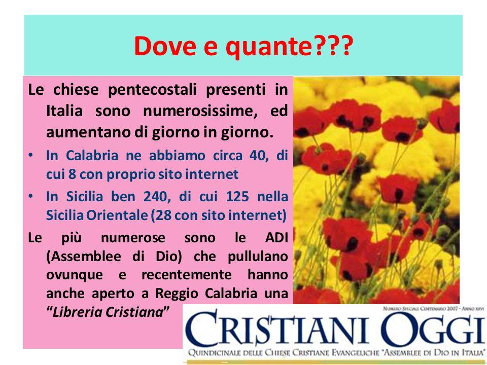 Dove e quante Le chiese pentecostali presenti in Italia sono numerosissime, ed aumentano di giorno in giorno.