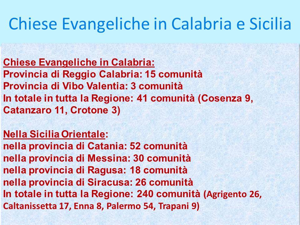 Chiese Evangeliche in Calabria e Sicilia