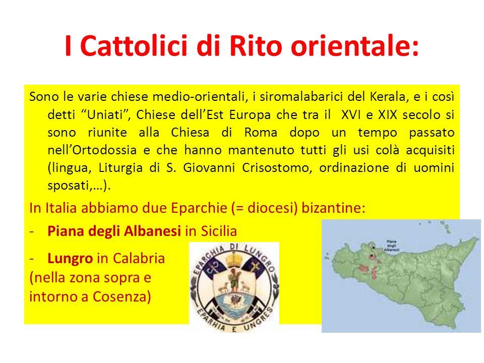 I Cattolici di Rito orientale:
