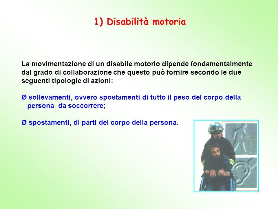 1) Disabilità motoria