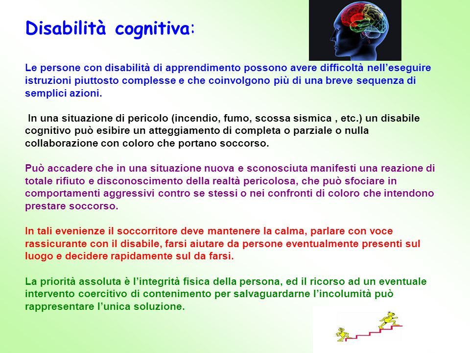 Disabilità cognitiva: