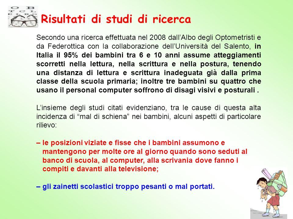 Risultati di studi di ricerca
