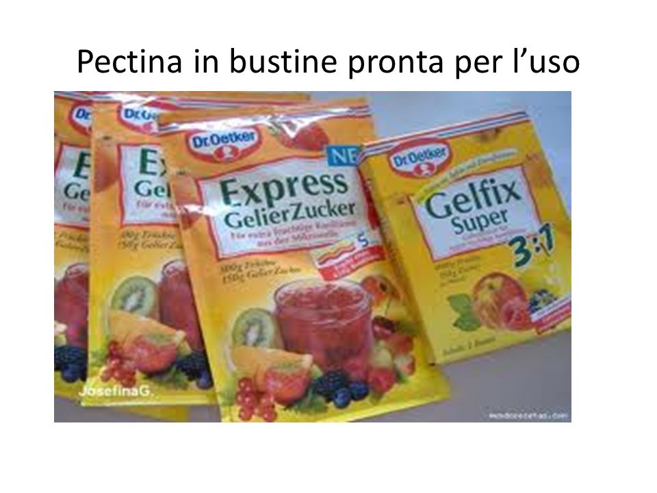 Pectina in bustine pronta per l'uso
